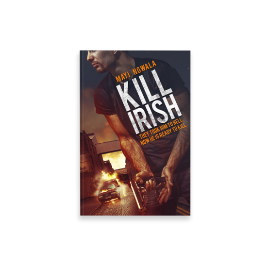 "Cover Book per ""Kill Irish"" di Mayi Ngwala - progetto copertina libro di CirceCorp Design"