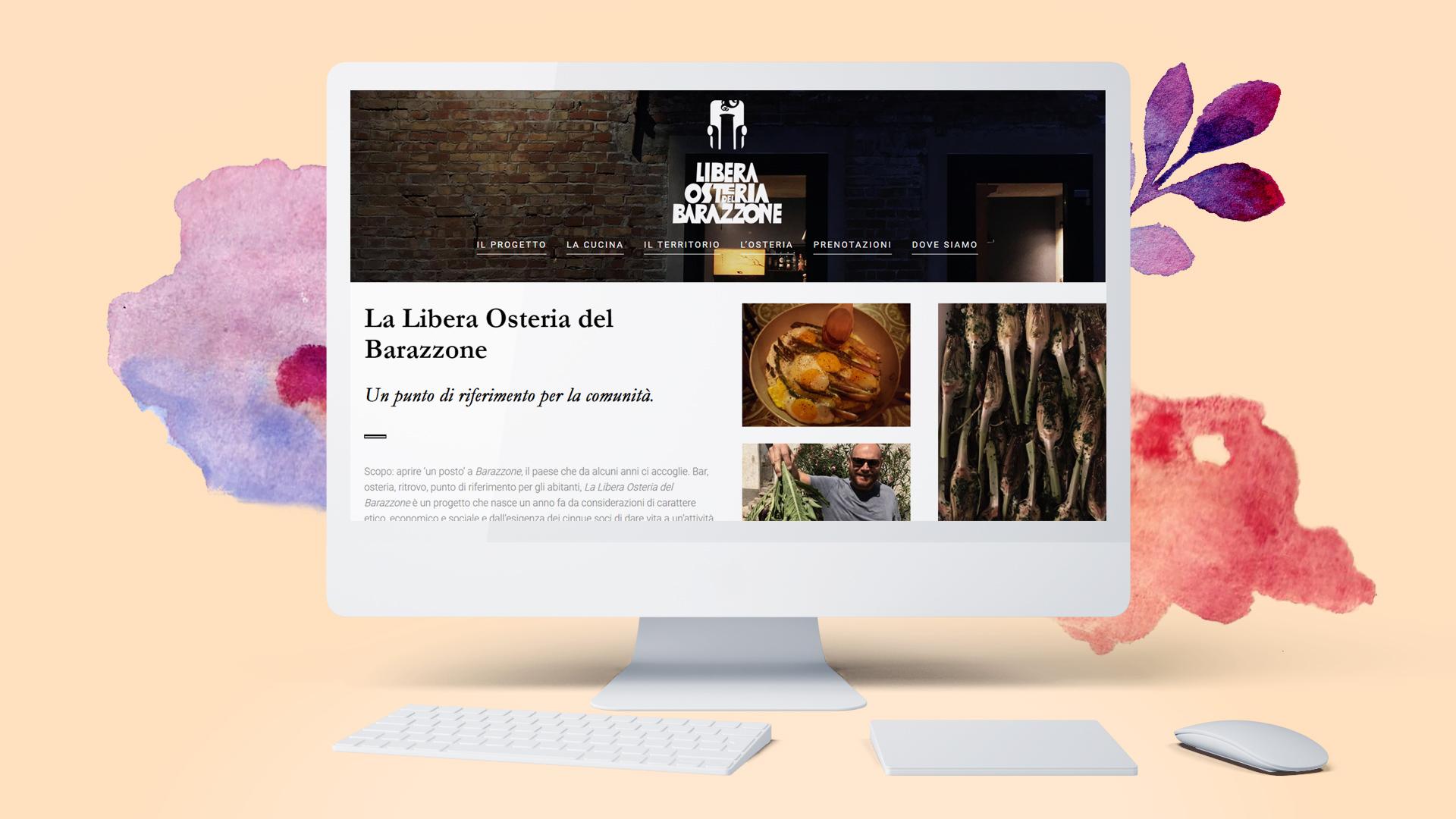 """Progetto per Sito web de""""Libera Osteria del Barazzone"""" di Circecorp Design"""
